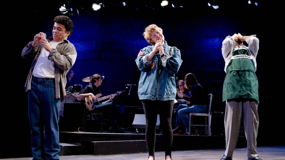 """Actors and musicians on stage for musical """"Tick, Tick...Boom"""""""