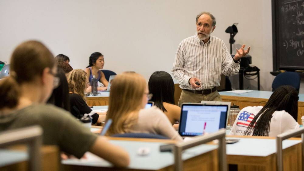 Professor Rubinstein teaching class