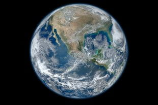 Composite image of the Earth taken January 4, 2012 by NASA's Suomi NPP Earth-observing satellite.