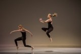 """""""Quartet"""" by Christine Knoblauch-O'Neal. """"This work is the fusion of the avant-garde of ballet as seen through Ballet Russe and my sense of the current potentials in ballet,"""" said Knoblauch-O'Neal, director of the MFA in dance program. """"The movement rides the edges of various dance genres while remaining tethered to the roots of ballet to form a construct of collected movement and play."""""""