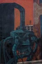 """Green Ventilator,"" 1946. Oil on canvas, 40 x 27"". Estate of Arthur Osver and Ernestine Betsberg."