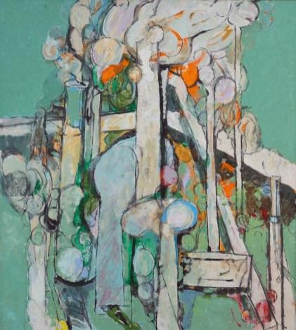"""""""Mondoverde,"""" 1990. Oil on canvas, 49 x 44"""". Estate of Arthur Osver and Ernestine Betsberg."""