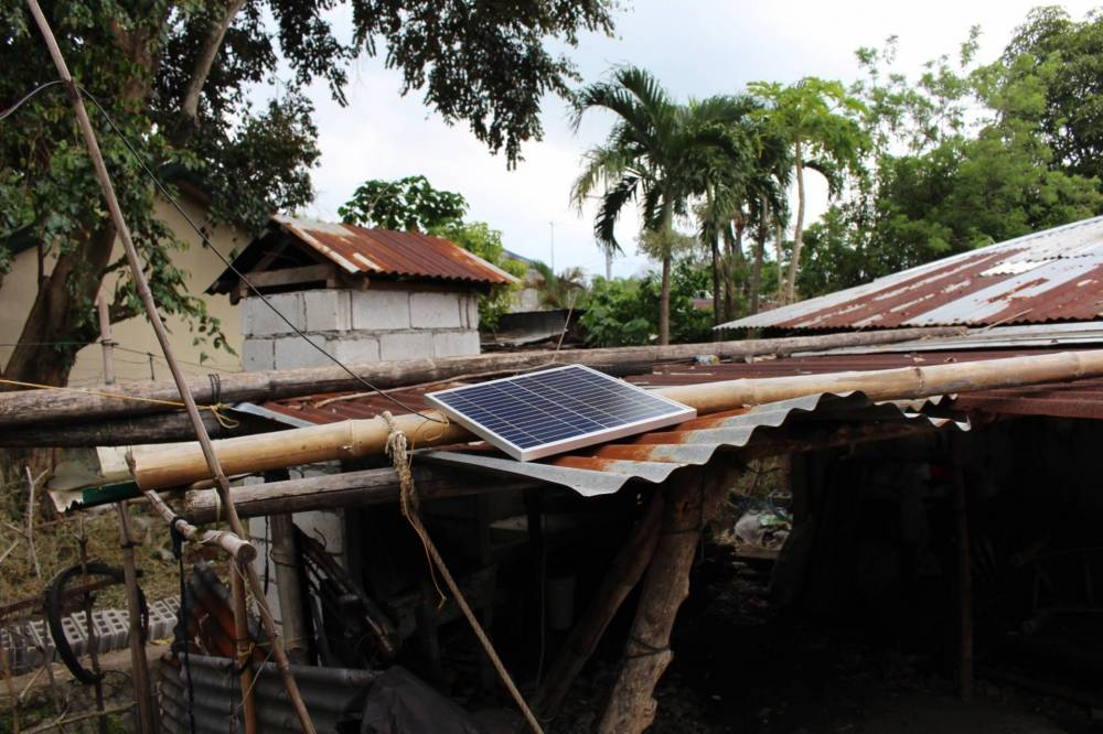 Solar panel on a home in Talim Island, Luzon
