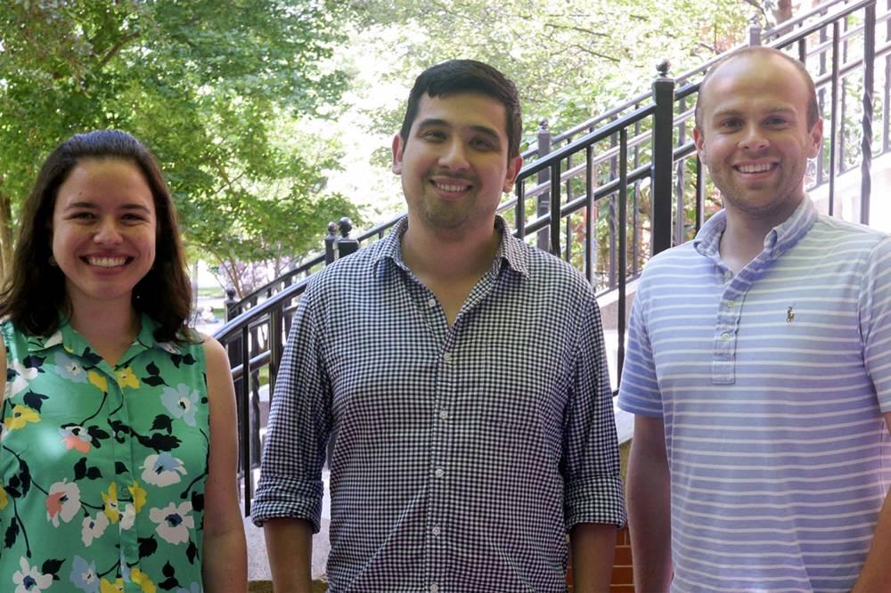 Three researchers Fabiana Duarte, Jason Buenrostro and Caleb Lareau