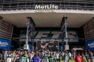 Outside MetLife Stadium.