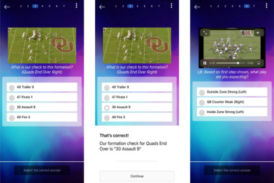 Mobile interface for Learn to Win.