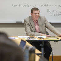 Jonathan Gienapp, Assistant Professor of History teaching HISTORY 252: Originalism and the American Constitution: History and Interpretation.