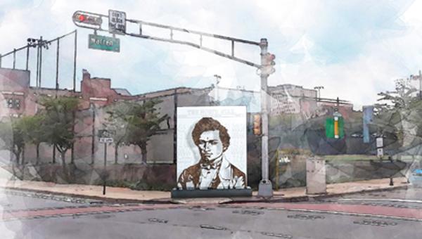 Rendering of Frederick Douglass installation