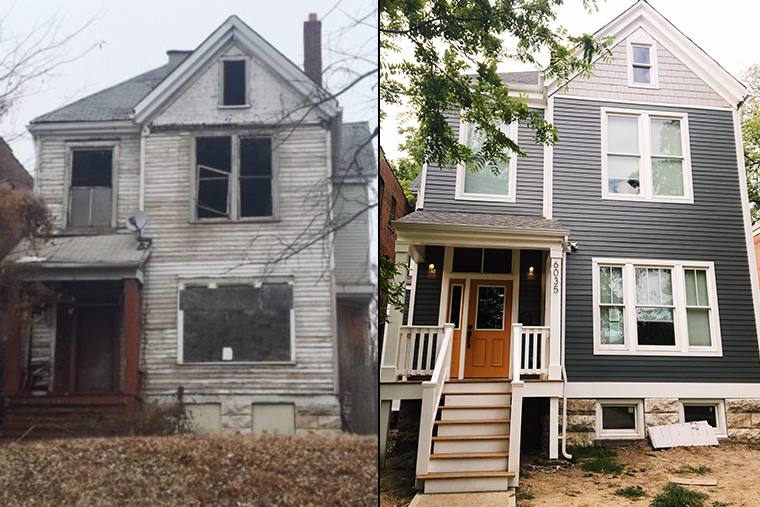 before and after of a house