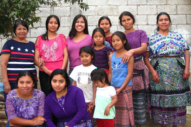 Family reunion in Guatemala in 2012