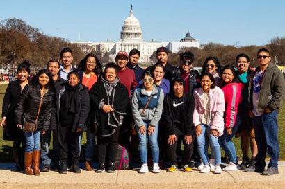 Next Generation Guatemala group members pose smiling in D.C.