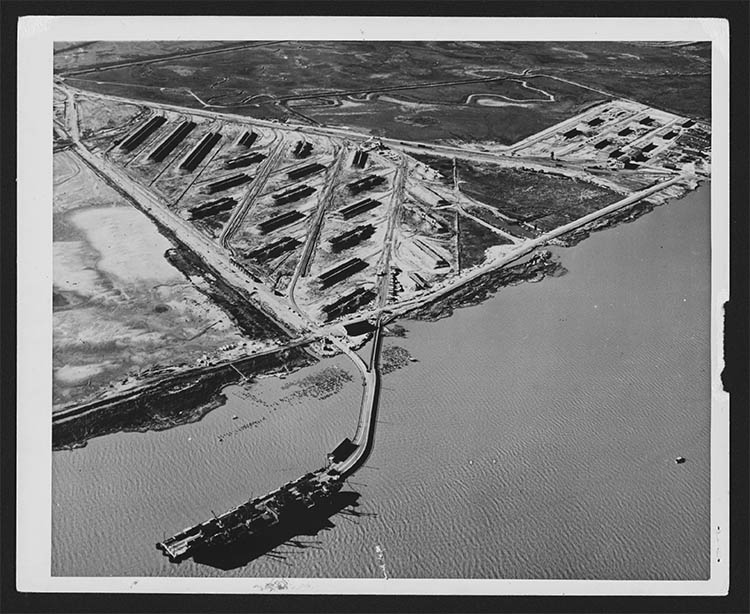 a aerial photo of the piers
