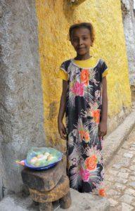Ethiopian egg seller