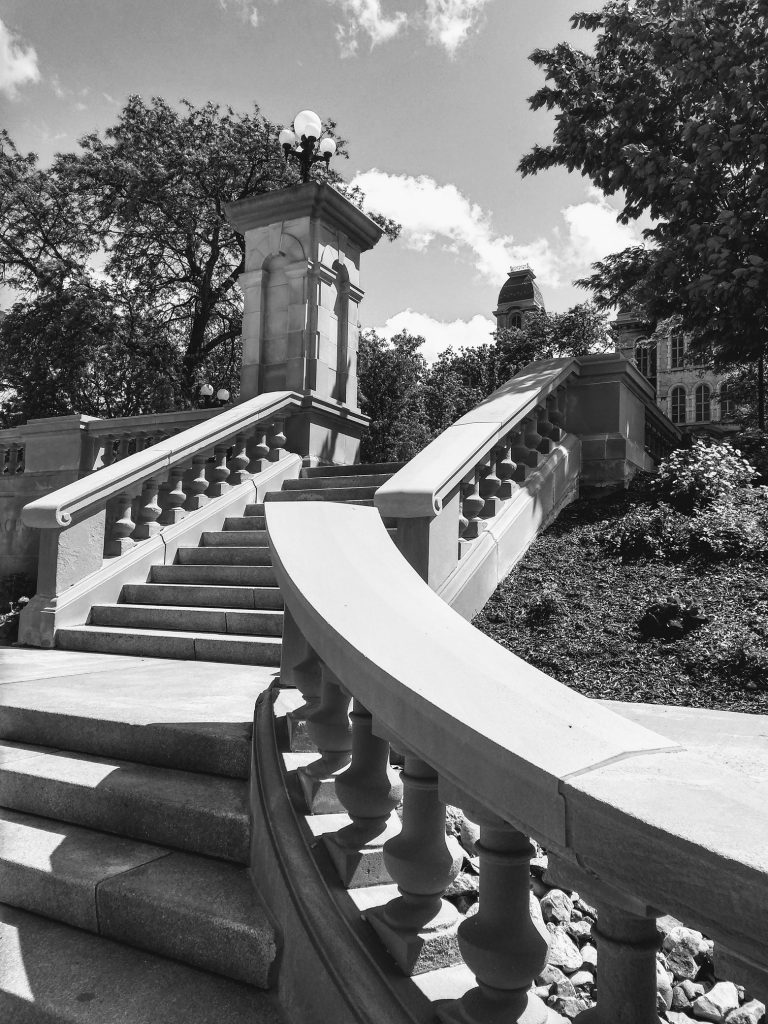 stairs leading to Hall of Languages