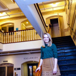 Brittany Ellis '19 at the Peabody Museum