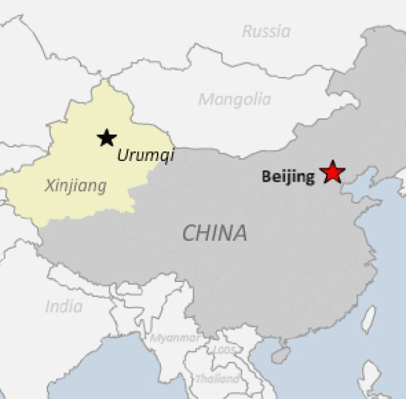 Urumqi map