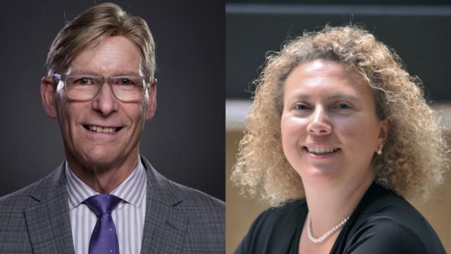 Northwestern professors P. Hande Ozdinler and Richard B. Silverman