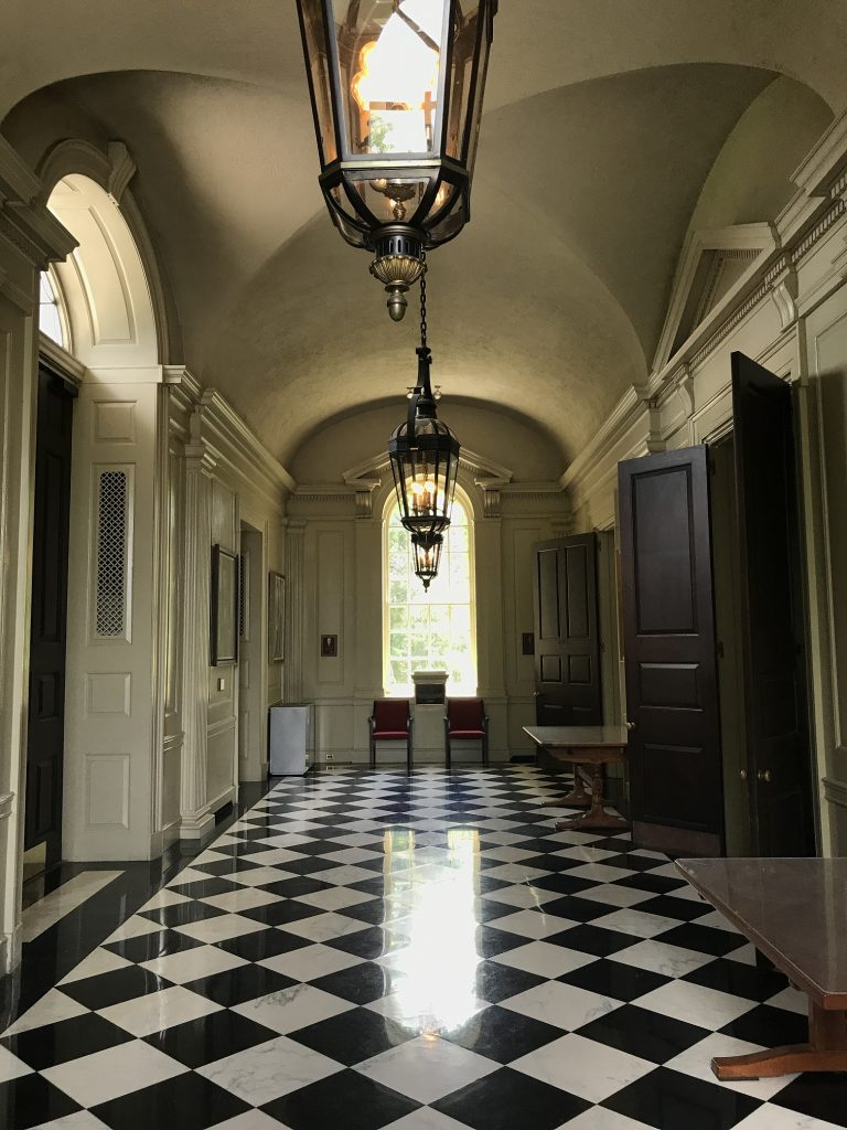 interior of Hendricks Chapel hallway