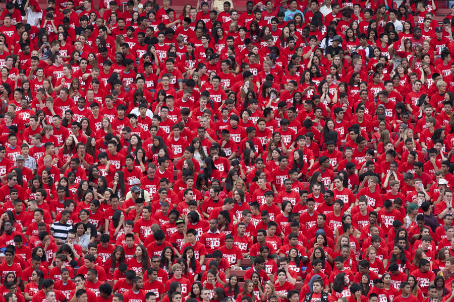 Rutgers students kick off college life at the new student convocation.