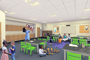 The Robinson Community Learning Center child care rendering