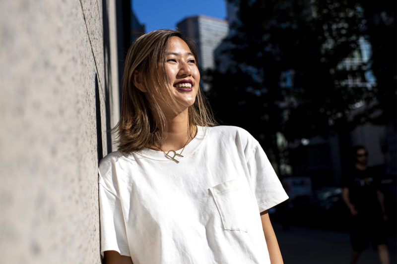 """""""People bond over food,""""says Northeastern student Rachel Eng, who co-founded Twotastebuddiez, a popular food Instagram account based in Boston. Photo by Ruby Wallau/Northeastern University"""