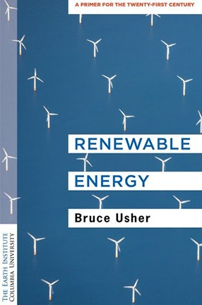 Blue book cover with title renewable energy