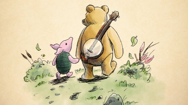 Illustration of Winnie the Pooh and Piglet