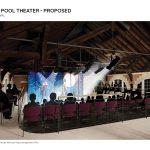 Artist's rendering of Adams House Westmorly Pool Theater.