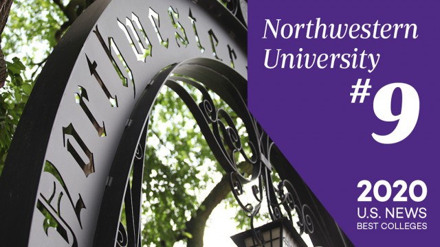 Northwestern University #9 ranking in U.S. News
