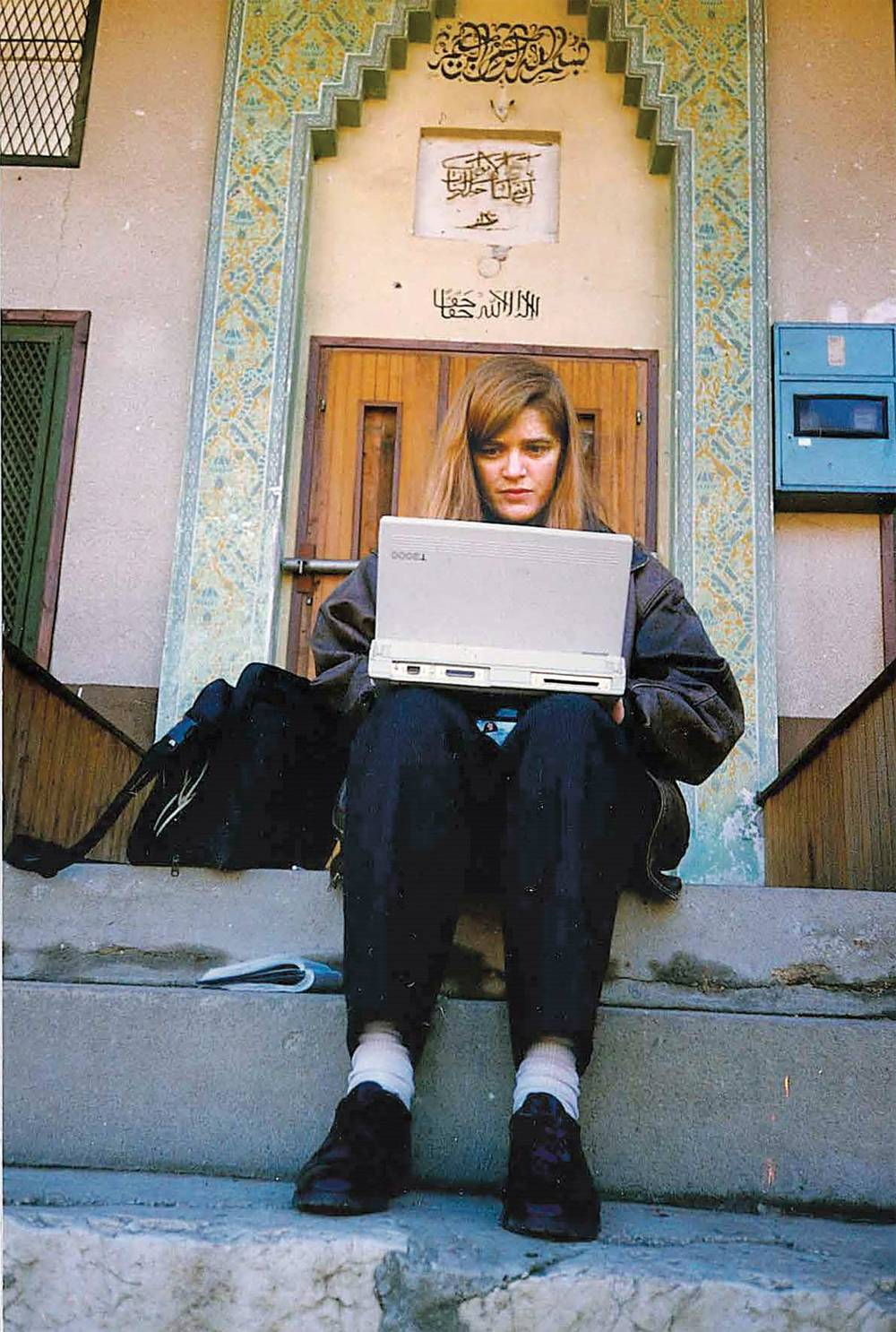 Samantha Power writing in Sarajevo.