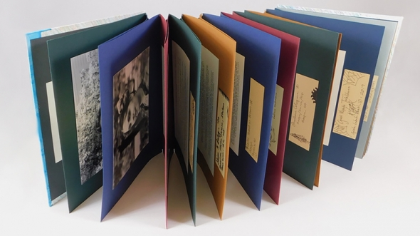 """Hand bookbinding prize winner A.J. Taptto '19 created """"Beautiful Contemporary Indigenous NDNs"""""""