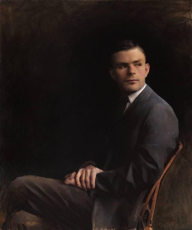 painting of Alan Turing