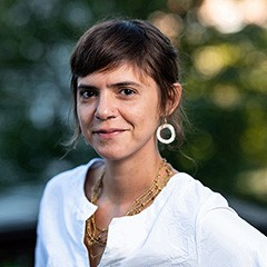 Woman wearing white blouse