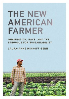 book cover of man standing in front of farm field