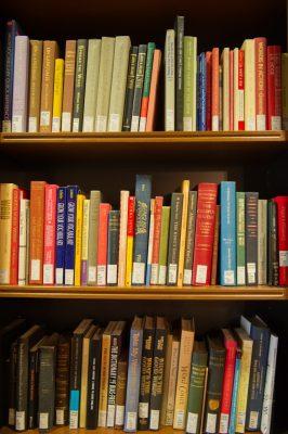 Bird Library Interior Book Shelf