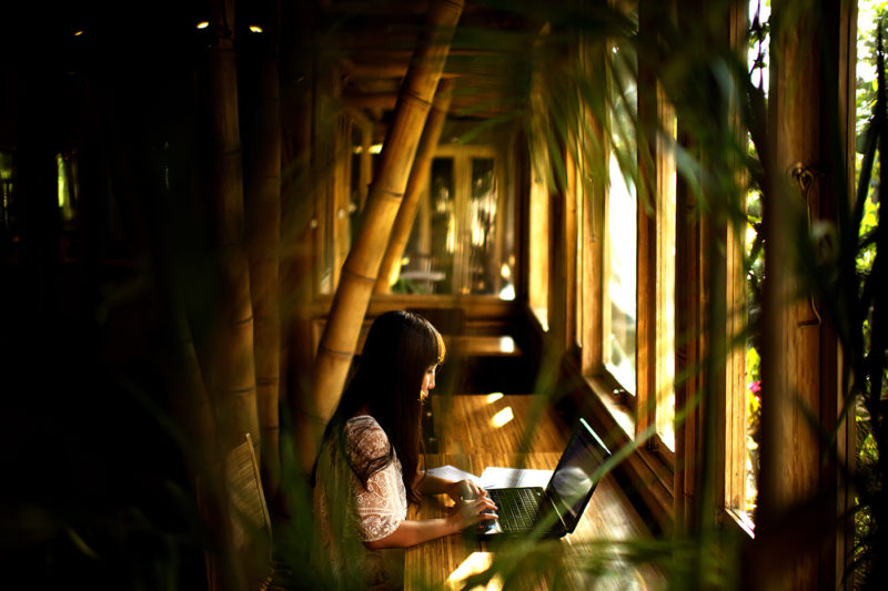 Hubud enables people from all over the world to pay a fee to use the company's bamboo structure as their personal office. Photo courtesy of Hubud.