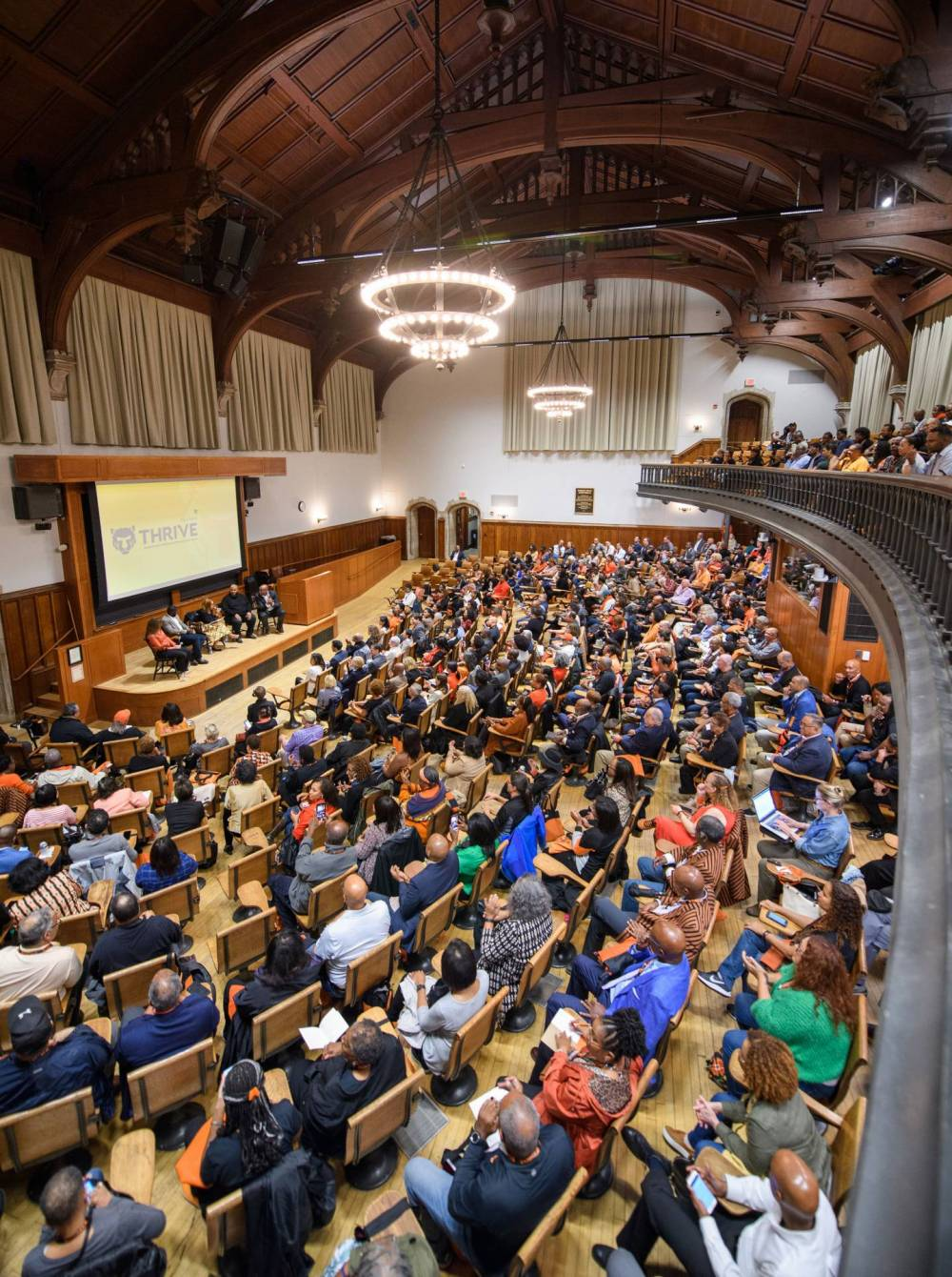 Overview of McCosh 50 with audience and panelists