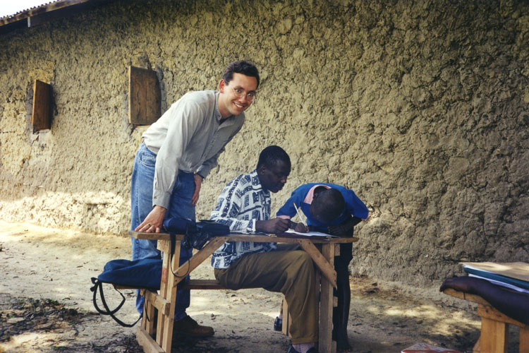 UC Berkeley economist Ted Miguel in western Kenya, where he has studied the impact on deworming programs on children's health and education outcomes.