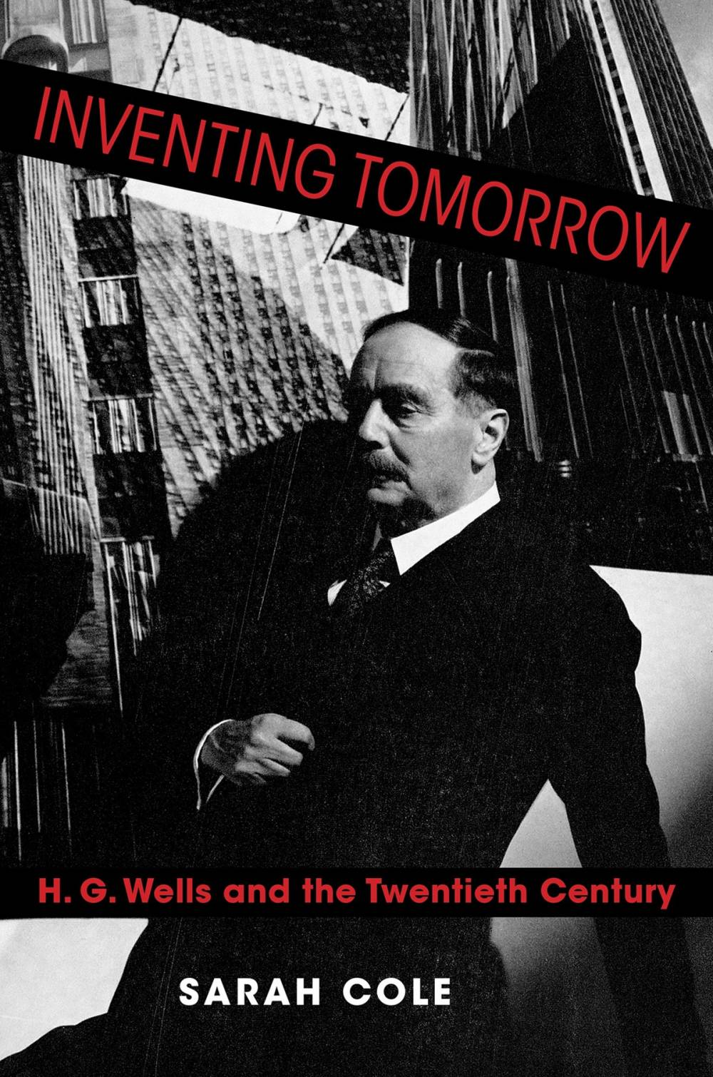 A book cover featuring a black-and-white photograph of a man wearing a suit.