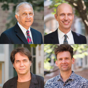 Four physics professors