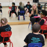 Portia Abernathy, Ed.M.'11, C.A.S.'12, works with Boston Ballet's Adaptive Dance Program to offer creative movement instruction for young people with disabilities.