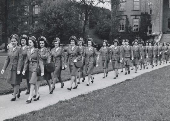 vintage photo of female veterans