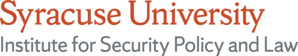 wordmark for the Syracuse University Institute for Security Policy and Law