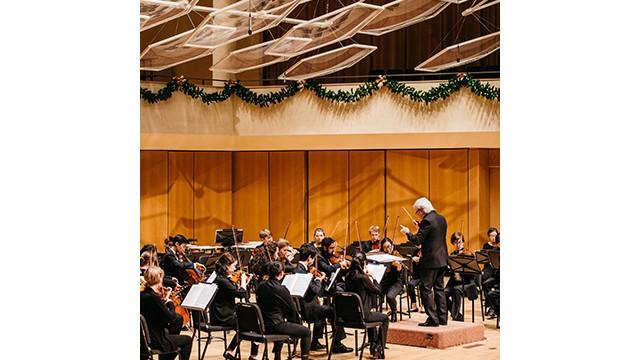 Bienen School of Music's Northwestern University Chamber Orchestra. Photo by Noah Frick-Alofs