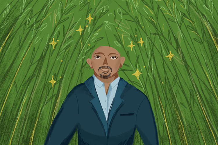 Illustration of comedian Maz Jobrani