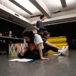 Students rehearse for ,for Proclamation Project at the American Repertory Theater.