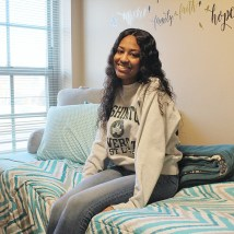 "B'Elanna Barnes, a sophomore studying computer science, won ""best single room"" in Residential Life's annual contest. ""I love having suitemates, but it's nice to have my own room where I can express myself."" (Photo courtesy of Barnes)"