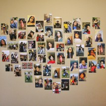 """Barnes also created a collage of photos of her family, friends from her hometown of North Little Rock, Ark., and first-year floormates. """"It makes me feel a little less homesick to have it here,"""" Barnes said."""