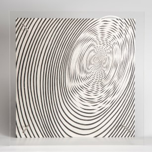 "Jesús Rafael Soto, ""Spirale (Spiral),"" 1955/1959. Screen printing on Plexiglas and painted plywood. Published by Edition MAT, Paris. Courtesy Kern Collection, Großmaischeid, Germany. © 2019 Artists Rights Society (ARS), New York / ADAGP, Paris."