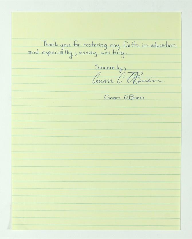 Conan letter part 2